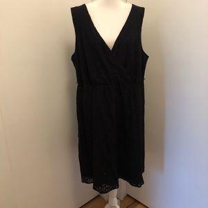 Lane Bryant Black/Royal Blue Dress